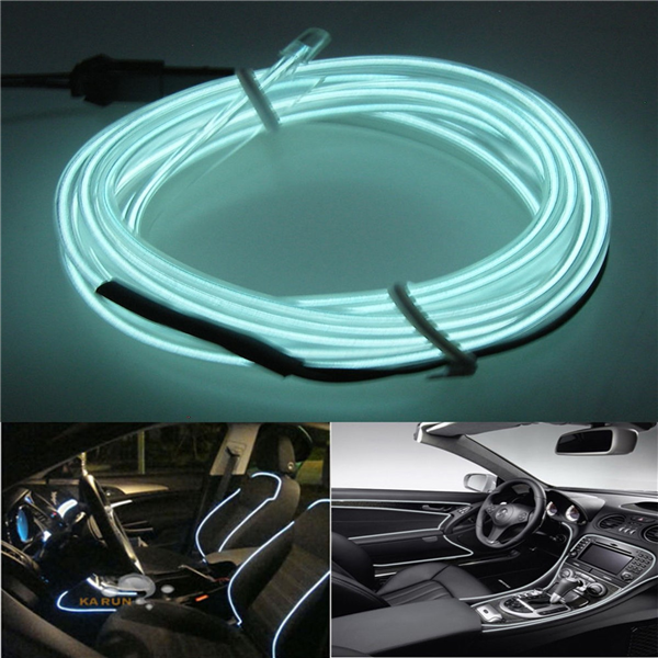 Araç İçi Esnek Fitilli Şerit Led Neon Asorti (5 Metre)