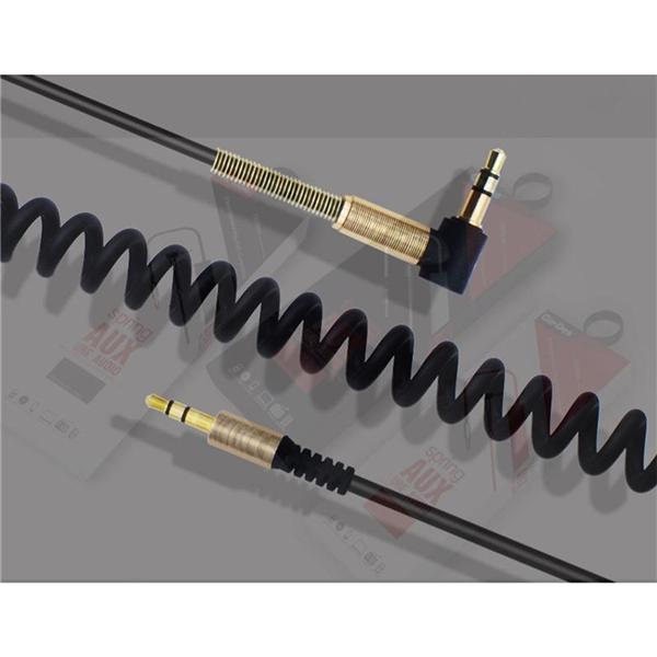 Akordiyon Özellikli Nikelaj Kaplı 3.5 mm Ses Bağlantı Aux Kablosu