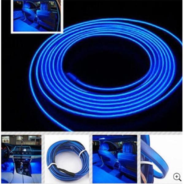 Araç İçi Esnek Fitilli Şerit Led Neon Mavi (2 Metre)